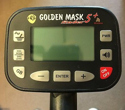 2nd Hand Goldenmask 5 + LITE (No wireless h/p) - Metal Detector - DETECNICKS LTD