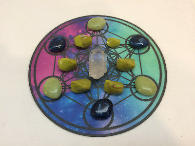 Metatrons Cube Crystal Grid Cloth Available in 4 Different Colours