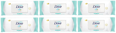 Baby Dove Hand and Face Wipes, Sensitive Moisture 30 ct ( 6 Pack)