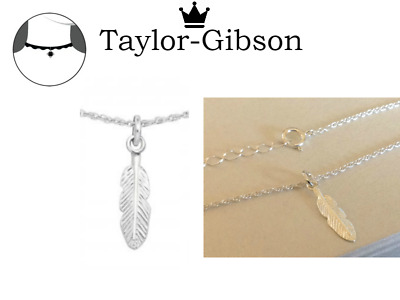 925 Sterling Silver Feather Choker Necklace Chain Adjustable