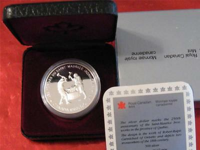 1988 Canadian Proof Silver Dollar UNC with a case, Ironworks