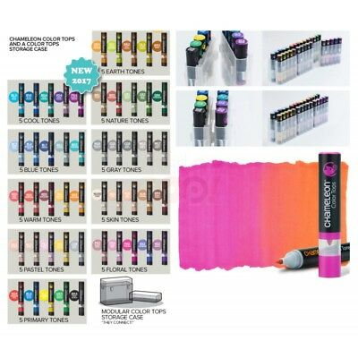 CHAMELEON COLOR TOPS 5 Pack Colour Change Ink Blend Tone Sets for use with pens