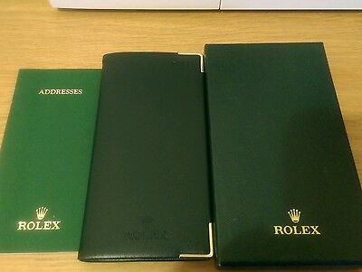 Rolex 2011 genuine green diary with address book. Boxed. Collectable item