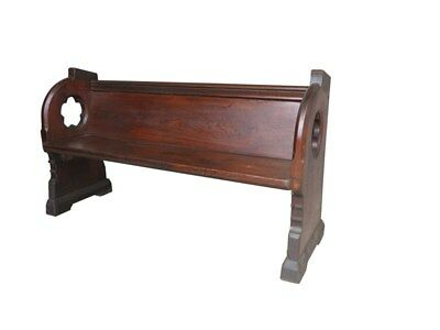 Antique Pitch Pine Decorative Church or Chapel Pew
