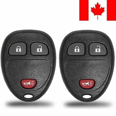 2x New Replacement Keyless Entry Remote Control Key Fob For Chevy Buick Pontiac