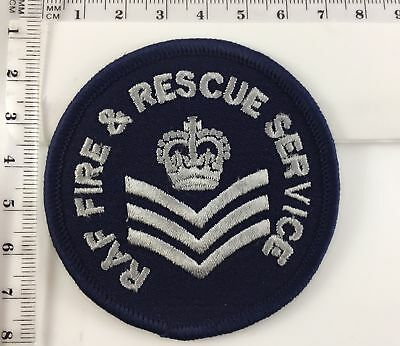 Royal Air force Raf Fire Rescue Corporal Army Sew On Iron On Embroidered #727