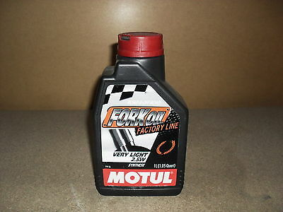 1x 1L MOTUL FACTORY LINE 2.5W VERY LIGHT FORK FULLY SYNTHETIC SUSPENSION OIL