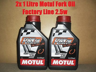 2x 1L MOTUL FACTORY LINE 2.5W VERY LIGHT FORK FULLY SYNTHETIC SUSPENSION OIL
