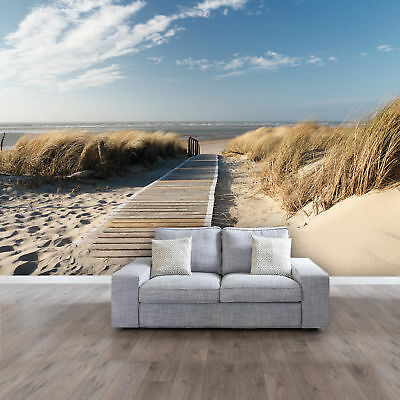 fototapete meer strand 366 x 254cm ostsee nordsee weg pfad. Black Bedroom Furniture Sets. Home Design Ideas
