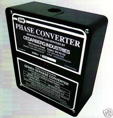 CEDARBERG Phase Converter Series IB Horse Power 5-7-1/2