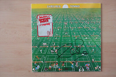 "Chris Rea Autogramm signed LP-Cover ""Tennis"" Vinyl"