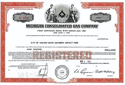 Michigan Consolidated Gas Company, 1966,  5 7/8% Bond due 1991 (9.000 $)