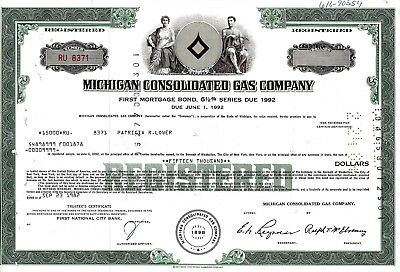Michigan Consolidated Gas Company, 1982,  6 1/2% Bond due 1992 (15.000 $)