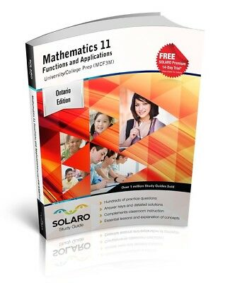 Ontario Mathematics 11 Functions and Applications (MCF3M) (SOLARO Study Guide)