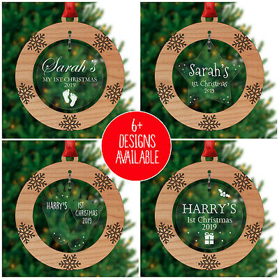 Baby First Christmas Tree Decoration PERSONALISED Bauble Ornament 1st Xmas Baby