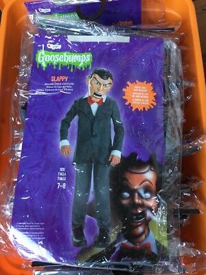 GOOSEBUMPS SLAPPY COSTUME Size 7/8 DELUXE CHILD MASK DISGUISE New