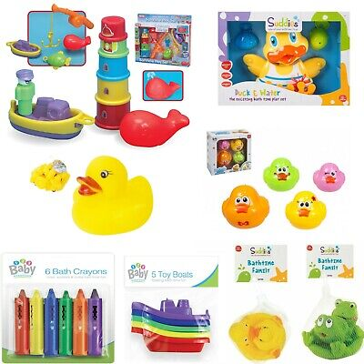 Kids Bath Time Fishing Game Duck Play Set Activity Toy Baby Toddler Gift 3+y
