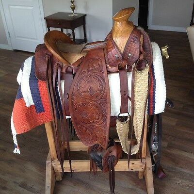 Original Antique Hand Made Western Saddle From Mountains In Peru