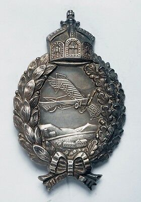 Rare WWI German Prussian Pilot's Badge_in Silver_ORIGINAL!