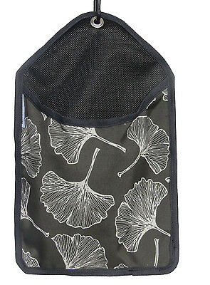 Laundry Clothes Peg Bag - CHARCOAL GINKGO - UV and Weather Resistant