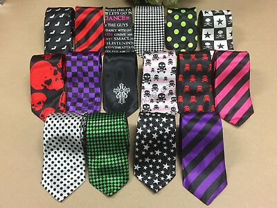 Novelty Narrow Party Ties Wedding Skinny Slim Tie Necktie Casual thin polyester