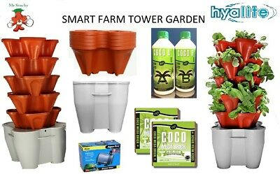 Smart Farm Mr Stacky Hydroponic Garden Tower Vertical Plant Nutrifield Tent