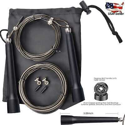Adjustable Speed Jump Rope For Boxing Crossfit Fitness Gym With Extra Cable
