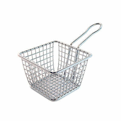 NEW American Metalcraft 4x4x3 Stainless Steel Square Fry Basket FRYS443 HANDLE