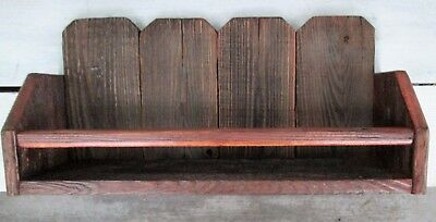 Reclaimed Rustic Country Primitive Caddy Shelf Vintage Display Barn Wood Fence