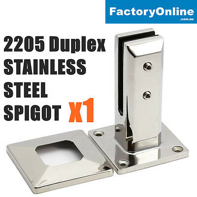 2205 Stainless Steel Spigots Frameless Glass Pool Fencing Balustrade Post Clamp