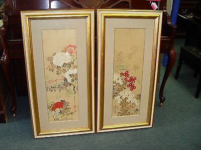 2 Asian Gold Framed Pictures