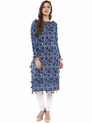 Indian Bollywood Kurta Kurti Designer Women Ethnic Dress Top Tunic Pakistani-373