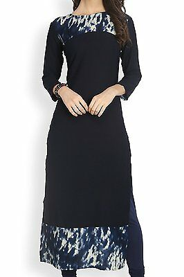 Indian Bollywood Kurta Kurti Designer Women Ethnic Dress Top Tunic Pakistani-365