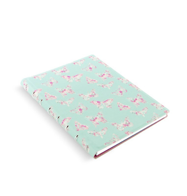 Filofax A5 Patterns Notebook, Butterfly, Cream Colored Paper, 112 Ruled Pages (B