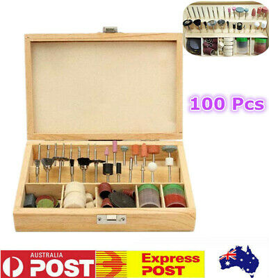 100pcs Rotary Grinding Sanding Polishing Tool Accessory Kit Set Case For Dremel