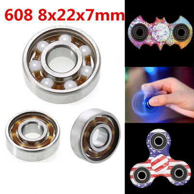 Hand Fidget Spinner Ceramic Speed Ball Bearings ZrO2 Zirconia 608 8mm*22mm*7mm