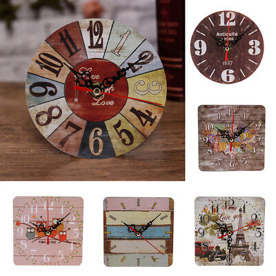 Grandfather Wooden Round Wall Clock Antique Living Room Office Wall Table Decor