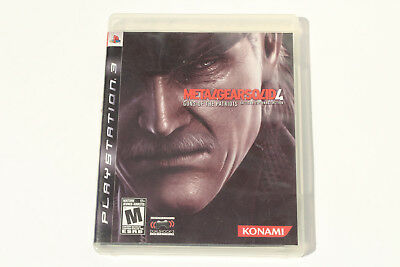 Metal Gear Solid 4: Guns of the Patriots (PS3) Complete with Manual - Tested