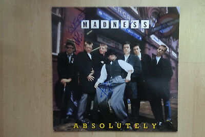 """Madness Autogramme signed LP-Cover """"Absolutely"""" Vinyl"""