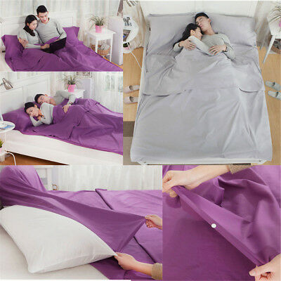 Travel Rectangle Envelope Cotton Double Sleeping Bag Liner Inner Camping Sheet U