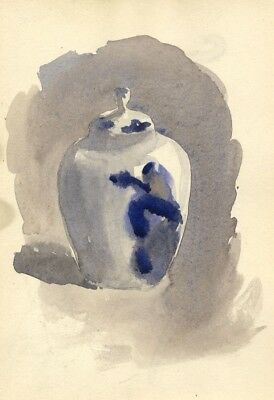 Pickford Robert Waller, Chinese Vase - Late 19th-century watercolour painting