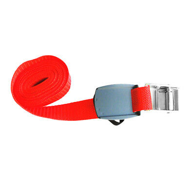CAM BUCKLES Straps 2 x 20mm 2.5 metre Red Luggage Trailer tie down CAR Roof Rack