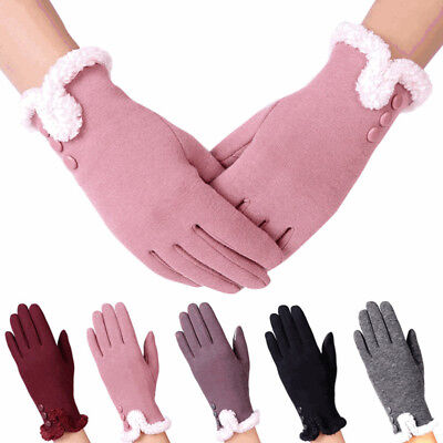 Women Touch Screen Gloves Warm Winter Outdoor Sport Full Finger Mittens 5 Colors