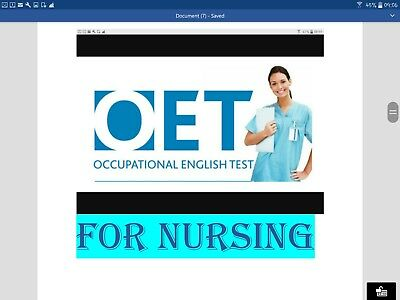 OET Occupational English test for nursing sample  pdf only and word for Writing