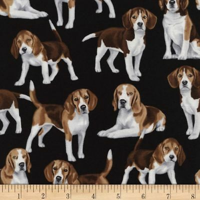 Beagle Dog Quilting Fabric