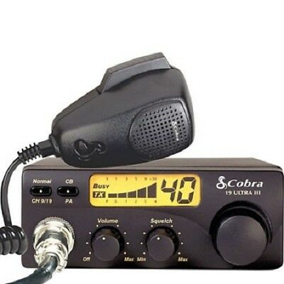 Cobra 19ULTRAIII CB Radio 40ch Compact Mobile Black Illuminated Display NEW