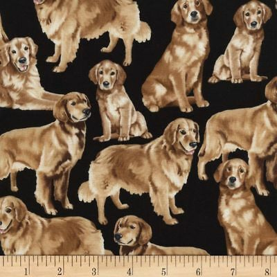 Golden Retriever Dog Quilting Fabric