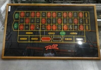 """""""original 57""""x 34"""" Framed Wall Print Of Rio's Roulette Table Top"""""""