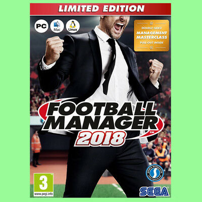 Football Manager 2018 Limited Edition PC CD Key - FM 2018 LE Steam Download Code