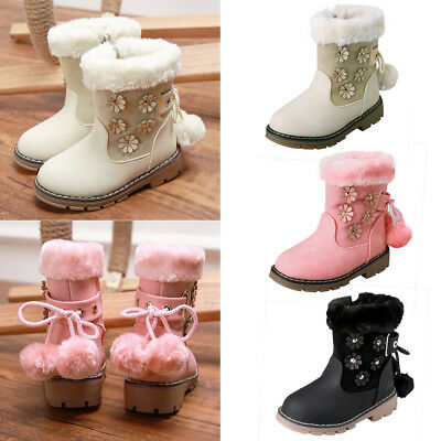 Children kids Winter Martin Boots Snow Baby Shoes Toddler Girls Party Boots